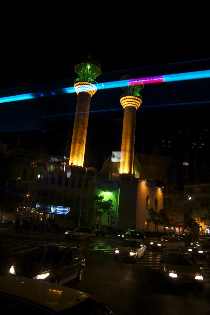 Night in the southern districts of Tehran