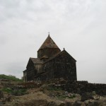 The church of Sevanavank, at the top of a peninsula in the large lake of Sevan, central Armenia