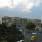 One of the vast apartment blocks of Tbilisi housing many hundreds