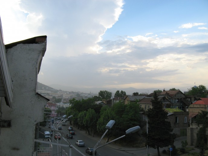 Afternoon view over Tbilisi