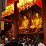A buddhist ceremony is observed by the Messenger
